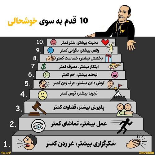 10 قدم به سوی خوشحالی