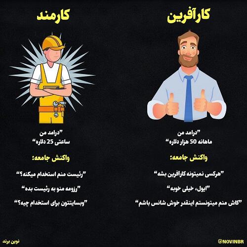 کارآفرین در مقابل کارمند