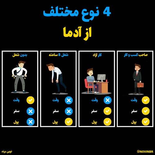 4 نوع مختلف از آدما