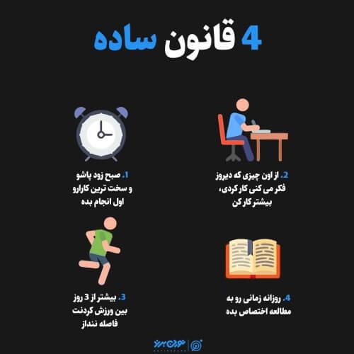 4 قانون ساده
