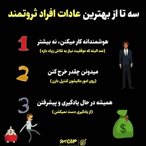 سه تا از بهترین عادات افراد ثروتمند