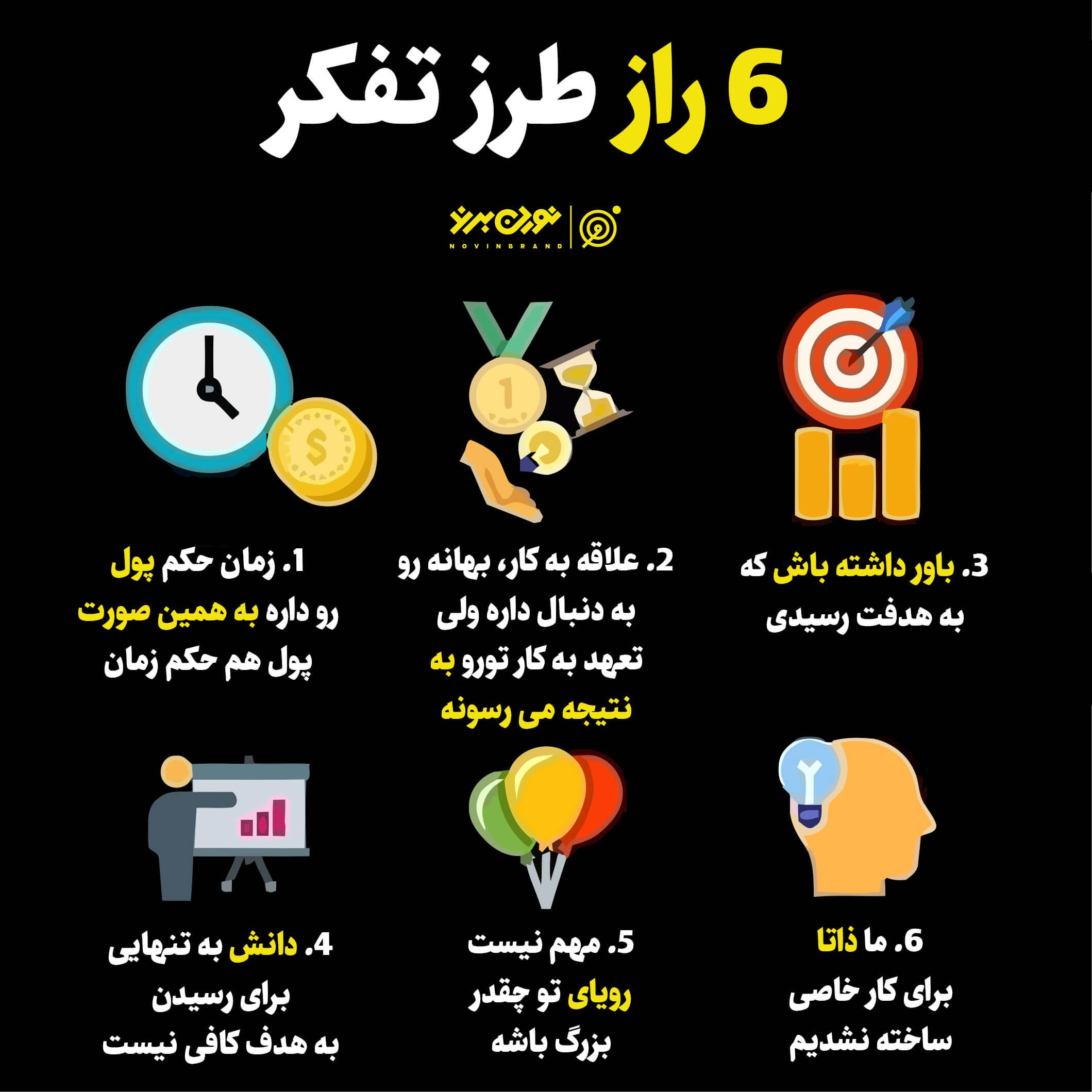 6 راز طرز تفکر