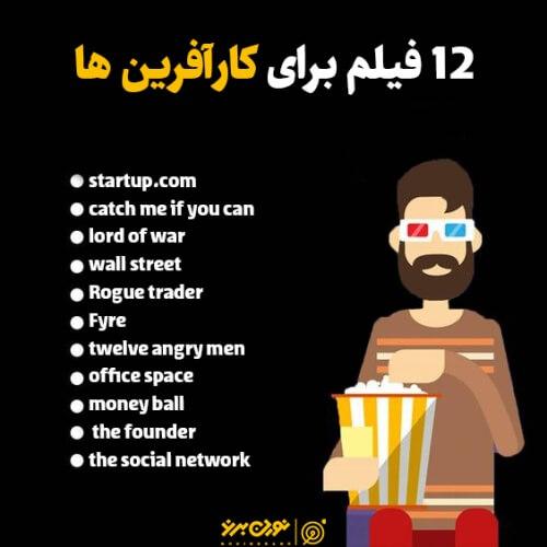 12 فیلم برای کارآفرین ها