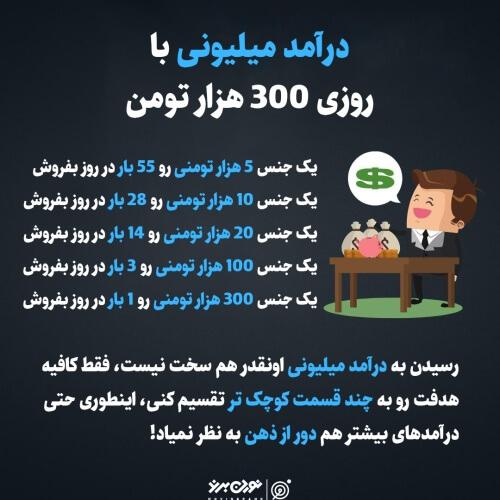 درآمد میلیونی با روزی 300 هزار تومن
