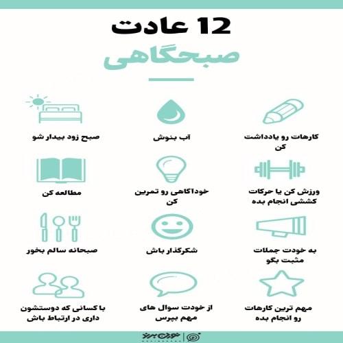 12 عادت صبحگاهی